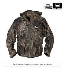 New Realtree Timber Banded White River Rader Jacket
