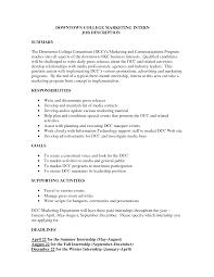 Social Media Marketing Job Description Marketing Social Media Intern Job Description Best Market 24 13