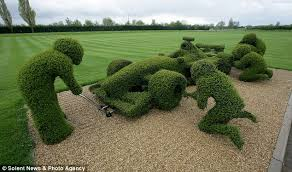 Green machine: The grounds of the Williams F1 headquarters in Didcot  feature this hedge has