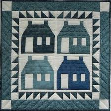 Traditional Houses Wall Quilt Kit - Complete Beginner Quilting ... & Beginner Quilt Kit - Wall Quilt - Houses Adamdwight.com