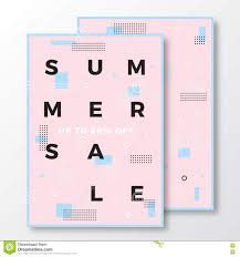 summer flyer template stock vector image  summer poster card or flyer template modern abstract flat swiss style background