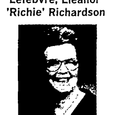 Eleanor Lefebvre (1924-2016)   Obituary
