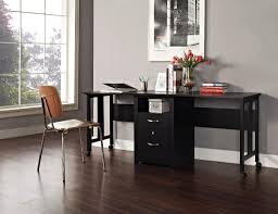 contemporary dark wood office desk. Contemporary Image Of Home Office Decoration Using 2 Person Desk : Charming Picture Dark Wood