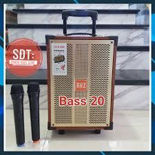 Loa Kéo karaoke bluetooth BHZ 108 Bass 20 mini Loa kẹo kéo di động thùng gỗ  Giá Rẻ . tại Hà Nội