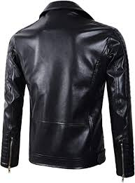 Lavnis <b>Mens PU Leather Jacket</b> Causal Belted Faux Leather ...