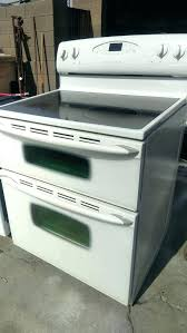 double oven electric glass top stove range maytag manual