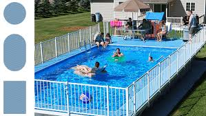 rectangle above ground swimming pool. Rectangle Above Ground Pool With Deck Pools Kayak Midwest Swimming M