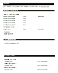 Blank Resume Template Cyberuse