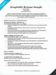 Front Desk Resume Delectable Sample Resumes For Jobs In Hospitality Fresh Top Rated Resume For