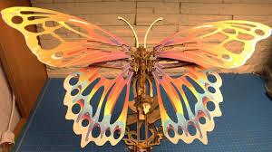 Заводная <b>бабочка</b> из фанеры - <b>конструктор</b> для взрослых и детей