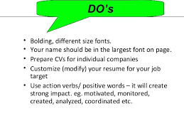 what font should my resume be in size what bully i go for downcast a idiom