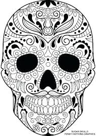Printable Sugar Skull Coloring Pages Skull Coloring Sheet O4964