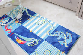 image of baby blue nursery rug