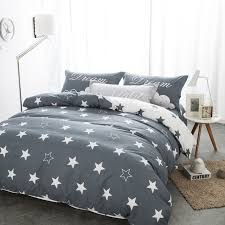 comforter sets double bedding black and white star print 100 cotton twin 4