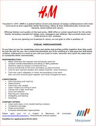 Sample Resume For Merchandiser Job Description Visual Merchandising Job Description For Resume Therpgmovie 12