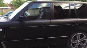 faze rug car interior. range rover vogue wrapped in matt satin black faze rug car interior