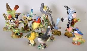 A Collection Of China Bird Figurines ...