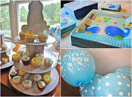 Comely Boy With Boy Baby Shower Decorations ...