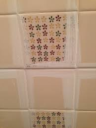 painting tile wallsRemodelaholic  A 170 Bathroom Makeover with Painted Tile