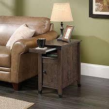 carson forge coffee oak storage side table