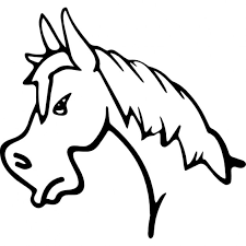 horse face drawing side. Wonderful Horse Angry Horse Face Side View Outline Free Icon In Horse Face Drawing Side E