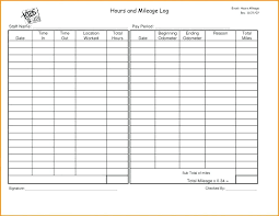 Mileage Record Sheet Monthly Sign In Sheet Template Homeish Co