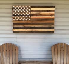 Pallet Art Reclaimed Pallet American Flag Hanging Wall Art 38 Long X 25
