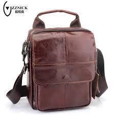 Designer Shoulder Bags Mens Zznick Pop Nice Retro Genuine Leather Shoulder Bag Men Crossbody Bags Small Famous Brand Designer Male Messenger Bags 2681