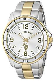 amazon com u s polo assn classic men s usc80297 two tone watch amazon com u s polo assn classic men s usc80297 two tone watch watches