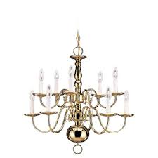 sea gull lighting traditional 10 light polished brass chandelier