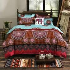 boho king quilt ab side duvet cover vintage style king bedding sets 1 boho king