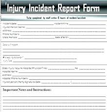 Incident Report Form Template Word Awesome Free Employee