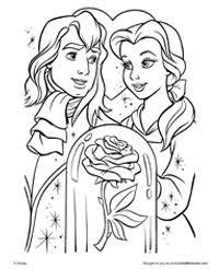 Small Picture Free Printable Beauty and the Beast Coloring Pages Earlymomentscom