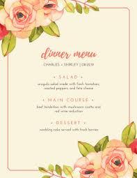 Wine Border Template Pink Floral Border Boho Wedding Menu Templates By Canva