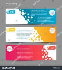 Web Banner Design Price Set Horizontal Web Banners Price List Stock Vector Royalty