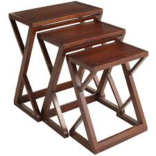 Nesting Tables Zano Brown Nesting Tables Pier 1 Imports