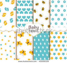 Baby Patterns Simple Cute Baby Patterns Collection Stock Vector Royalty Free 48
