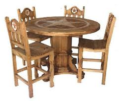 rustic round dining room sets. Image Is Loading Round-Rustic-Dining-Room-Set-With-Star-Marble- Rustic Round Dining Room Sets
