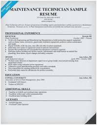 Sample Resume Maintenance Technician Popular Maintenance Mechanic