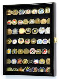 military challenge coin display case cabinet holder wall rack 98 uv lockable