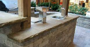 diy outdoor concrete countertop attractive outdoor kitchen design ideas with modern washbasin and aluminum fencing feat