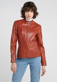stacey jacket leather jacket dark brown