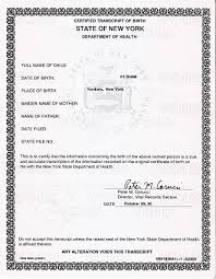 New York Apostille For Short Form Birth Certificate