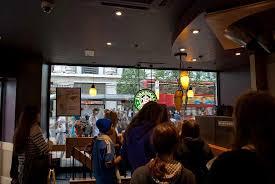busy starbucks interior. Beautiful Interior Starbucks 425 Oxford Street Busy Queue In Starbucks Street Inside Interior
