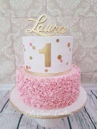 Baby Girl 1st Birthday Cakes Amazingbirthdaycakega