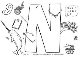 i spy alphabet colouring page n 460