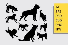 Download 10,439 dog free vectors. Dog Animal 5 Silhouette Graphic By Cove703 Creative Fabrica Animal Silhouette Animals Graphic Illustration