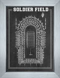 Soldier Field Chart Print Of Vintage Soldier Field Seating Chart On Photo Paper Matte Paper Or Canvas