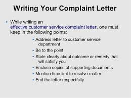 complaint service co tips to write customer service complaint letter