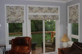 sterling patio door roman shades patio door roman shades window treatments design ideas